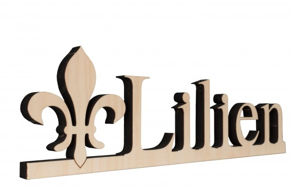 "Holz-Aufsteller ""Lilien"""