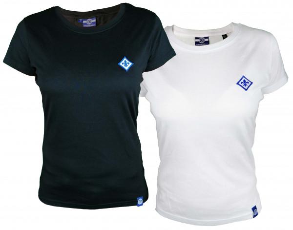 """SV 98 Damenshirt """"Lilienpatch"""" Schwarz/Weiß"""